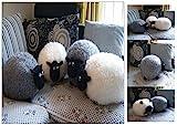 Kuschelkissen Schaf (Wei) Kuschel Kissen Plsch Tier Deko Dekokissen Plschtier
