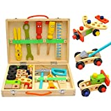 Bloomma Kids Tool Box Holzspielzeug-Set, Kinder-Tool-Kits, Boy Geschenk Lernen Spielzeug BAU-Set...