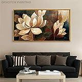 HD Vintage Lotus lgemlde Poster Home Dekoration Leinwand Malerei Wandkunst Bild fr Wohnzimmer...