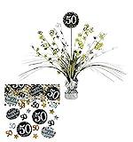 Feste Feiern Tischdekoration 50. Geburtstag | 2 Teile Tischaufsatz Tischaufsteller Kaskade Konfetti...