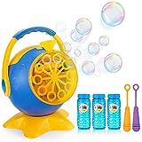 Apiker Seifenblasenmaschine für Kinder Bubble Machine Automatischer Seifenblasen-Maschine mit 3...