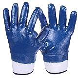 FZCC wasserdichte ölbeständige Handschuhe Nitril Builder Dachschutz Sicherheit schnittfest
