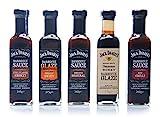 Jack Daniel's - Grillsaucen & BBQ Glaze Probierpaket - 5 Flaschen im Set (1330g) - Smooth Original,...
