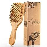 SIGHTLING Paddle Holzborsten Bambus Holz Anti statische Haarbürste Kissen Haarbürste Massage Haar...
