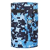 HULDORO Sizing: 16x10x10cm (blau), Tarnung Lebendigkeit Prominent Objektivtasche mit Reißverschluss...