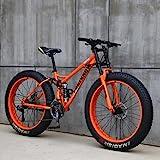 Wind Greeting 26 Zoll Mountainbike,24 Gang-Schaltung Erwachsene Fette Reifen Fahrrad,Rahmen aus...