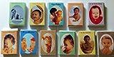 Multipack mit 11 Packungen, 6 Karten je 6 Geburtstagskarten mit niedlichen Babyfotos
