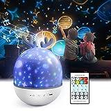 Projektor Lampe für Kinder,Petrichor LED Musik Nachtlicht Lampe Schlummerleuchten Schlafhilfe Kind...