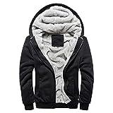 MRULIC Herren Hoodie Pullover Winter Warme Fleece Jacke Zipper Sweater Jacke Outwear Mantel...