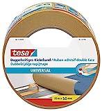 tesa Doppelseitiges Klebeband Universal - Vielseitiges Klebeband für Verpackungen, Deko und...