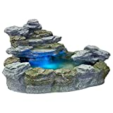 STILISTA Mystischer Gartenbrunnen Olymp Brunnen in Steinoptik 100x80x60cm gro Springbrunnen inkl....