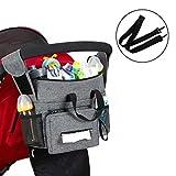 Kinderwagen Organizer, Universal Baby Kinderwagen Tasche mit Reißverschluss, Großer Stauraum Buggy...