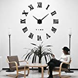 iKALULA DIY 3D Wanduhren, DIY Wanduhr Modern Design Acryl Wanduhren Wandtattoos Dekoration Uhren DIY...