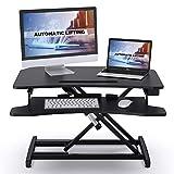 ABOX Sitz-Steh-Schreibtisch, Elektrisch Höhenverstellbarer Schreibtisch-Aufsatz mit Einem...