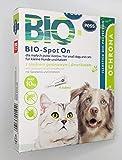 BIO-Spot On 4 Pipetten I Natürliches Mittel gegen Zecken und Flöhe I Zeckenschutz für Hunde und...