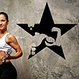 xinyouzhihi Gym Sticker Star Fitness Aufkleber Bodybuilding Poster Vinyl Wandtattoos Aufkleber...