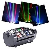 U`King Moving Head Spider Licht Discolicht Partylicht RGBW 8X10W LED Lampe fr Bar Weihnachten Party