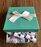 Geschenkbox für die beste FREUNDIN, inkl. 52 Herz-Botschaften und Schleifenband