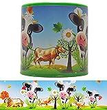 DIE NÄHZWERGE Tierstimmendose Kuh Gloria, grün, 6cm hoch, Kuhstimme | Tierstimme in Dose,...