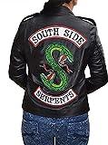 Damen Biker Serpents Schwarze Kunstlederjacke mit Schlangenlogo Motorradjacke (Schwarz - Serpents...