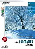 Schwarzwald Mhle Papier: 100 Blatt Inkjet-Fotopapier'Arktic' matt 180g/m A4 (Drucker-Fotopapier)