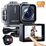 APEMAN Action Cam A100, Echte 4K 50fps WiFi 20MP Touchscreen Unterwasserkamera Digitale wasserdichte...