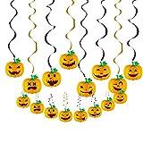TOYANDONA 8 Stück Halloween Hängende Strudel Ornament Papier Kürbis Decke Strudel Luftschlangen...