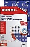 Kores® Durchschreibepapier, Handbeschriftung, Trägermaterial: Wachs, A4, blau (100 Blatt), Sie...