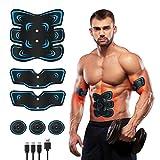 Fediman EMS Bauchmuskeltrainer, EMS Trainingsgerät mit 6 Modi & 9 Intensitäte- Hilfe beim...