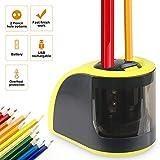 Bleistiftspitzer, batteriebetrieben oder USB-betrieben, Bleistiftspitzer mit Behälter, doppelte...
