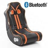 Wohnling Soundchair Ninja in Schwarz Orange mit Bluetooth | Musiksessel mit eingebauten...