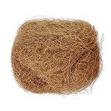 POHOVE 100 g natürliche Kokosfaser, bequemes Vogelnistmaterial für kleine Vögel, Hamster,...