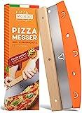 Pizza Mondo® Pizzaschneider - Profi Pizzamesser (Pizza Cutter) effektiver als Pizzaroller | Premium...