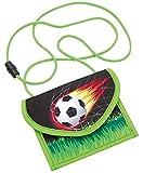 Wedo 2413001 Brustbeutel Fußball aus Polyester, Sicherheitskordel, Münzfach mit Reißverschluss,...