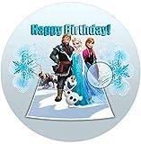 Für die Geburtstags Torte, Zuckerbild mit dem Motiv: Frozen Die Eiskönigin, Essbares Foto für...