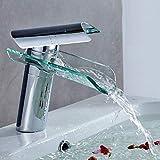 Auralum® Waschbeckenarmatur, für kaltes & warmes Wasser Wasserfall Elegantes Design...