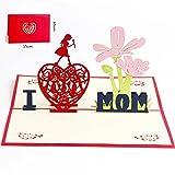 Deesos Muttertagskarte,Papier Spiritz Muttertag,Geburtstagskarte fr Mama Special, 3D Pop-up-Grukarte...