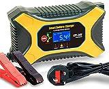 Auto Batterie-Ladegerät, 6A 12V 3A 24V KFZ Vollautomatisches Batterieladegerät Intelligentes mit...
