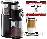 ROMMELSBACHER Kaffeemühle EKM 200 – aromaschonendes Scheibenmahlwerk, Mahlgrad einstellbar von...