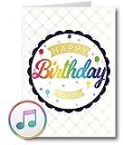PlayMegram bespielbare Audio-Geburtstagskarte mit USB und 128 MB Speicher, Für Sprachnachrichten...