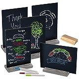 Xigeapg Chalk Board Doppel Seitige Tafel Zeichen mit Stand Tabletop Chalkboards für Hochzeits...
