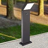 LED Außenleuchte schwarz Außenlampe Wandleuchte Standleuchte Aluminium Wegeleuchte 1504-800BM...
