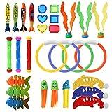 GWHOLE 29 Stück Tauch-Spielzeug, Schwimm-Spielzeug, Schwimmbad, für Training, Schwimmen,...