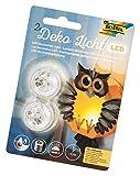 folia 982 - Deko LED Licht, 2 Stück, warmweißes Licht, ideal als Teelichtersatz, für Laternen,...