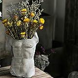 JJAIR Charakter Skulptur Blume, Pflanze Blumentopf Portrait kreative Dekoration Aussen Startseite...