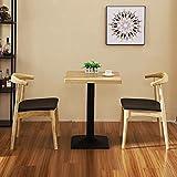 Esszimmerstühle Massivholz 2X Vintage Bequeme Rückenlehne und gepolstert gepolstert für Küche...