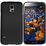 mumbi Hartschale kompatibel mit Samsung Galaxy S5 / S5 Neo Handy Hard Case Handyhülle, schwarz