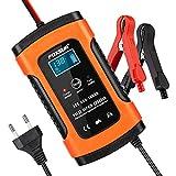 opamoo Batterie Ladegerät Auto, Autobatterie Ladegerät, 6A 12V Vollautomatisches...
