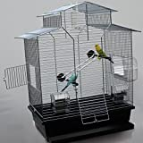 Vogelkäfig,Wellensittichkäfig,Exotenkäfig,60 cm Vogelkäfig Vogelbauer Wellensittich Kanarien...