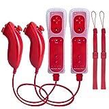 TechKen Remote Controller und Nunchuk für Wii,Remote PlusController für Wiimit Motion Plus und...